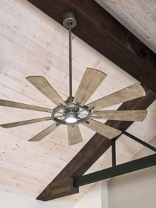 Using a ceiling fan can help you cut back on up to 40% of your electricity usage.