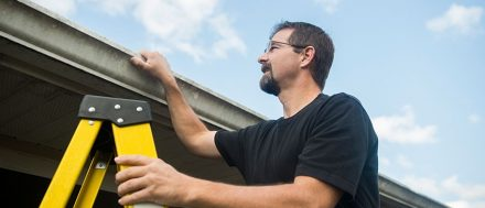 Regularly inspecting and repairing gutters will help you to prevent rain damage in the future.